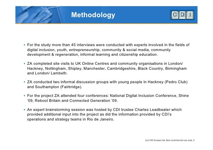 CDI UK Feasibility Study 2009 - Digital Inclusion Research Slide 3