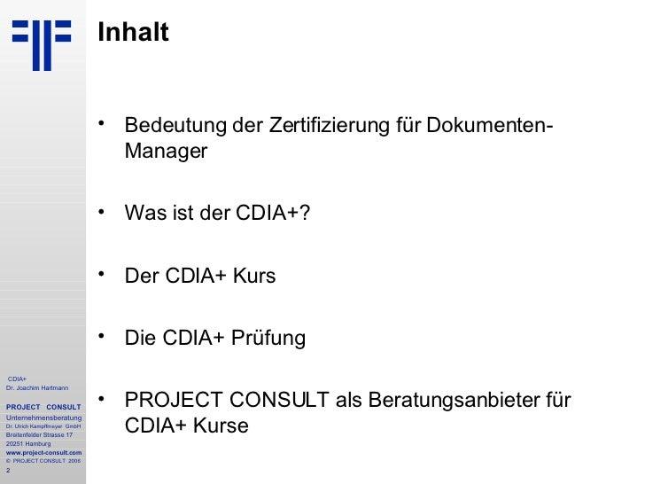 DE] CDIA+ Certified Document Imaging Architech | Einführung zum Zert…