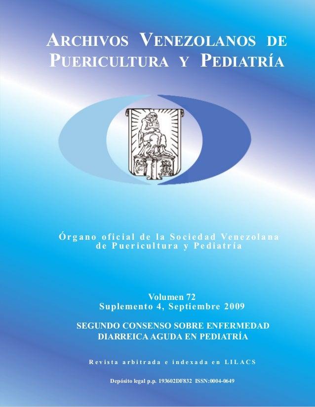 ARCHIVOS VENEZOLANOS DE PUERICULTURA Y PEDIATRÍA Órgan o oficial de la Sociedad Venezolana d e Puericultura y Pediatría Vo...