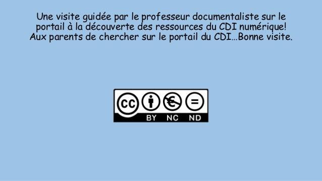 Une visite guidée par le professeur documentaliste sur le portail à la découverte des ressources du CDI numérique! Aux par...