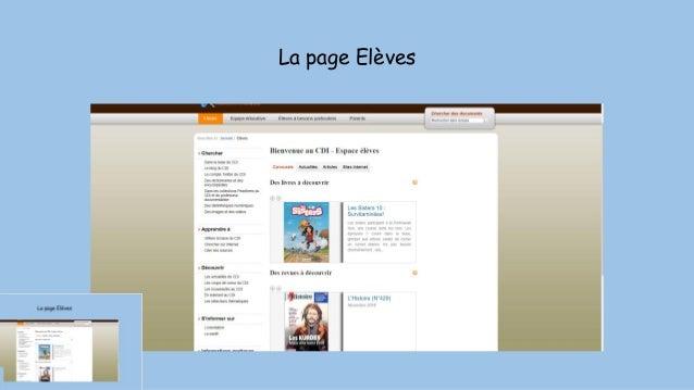 La page Elèves