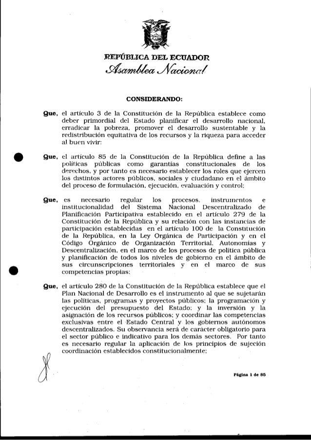 Código de Planificación y Finanzas Públicas Ecuador