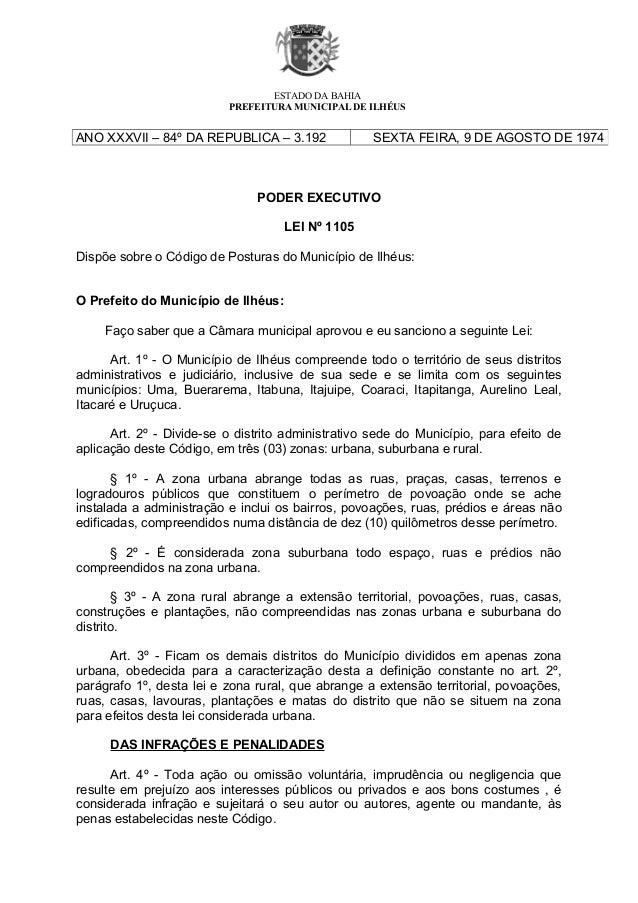 ESTADO DA BAHIA                          PREFEITURA MUNICIPAL DE ILHÉUSANO XXXVII – 84º DA REPUBLICA – 3.192              ...