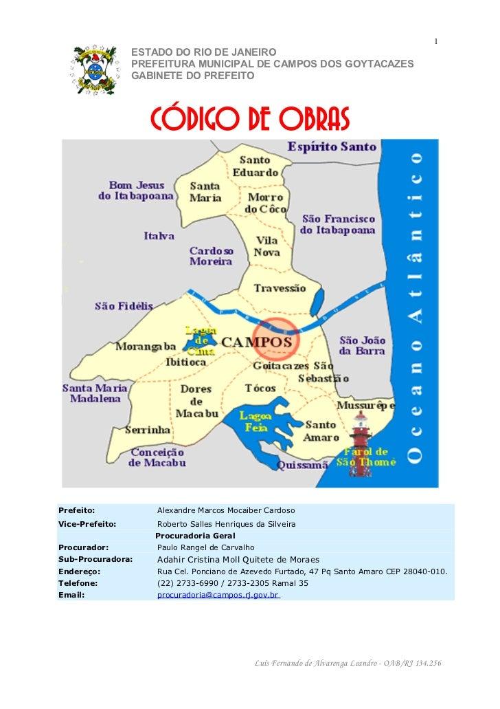 1                 ESTADO DO RIO DE JANEIRO                 PREFEITURA MUNICIPAL DE CAMPOS DOS GOYTACAZES                 G...