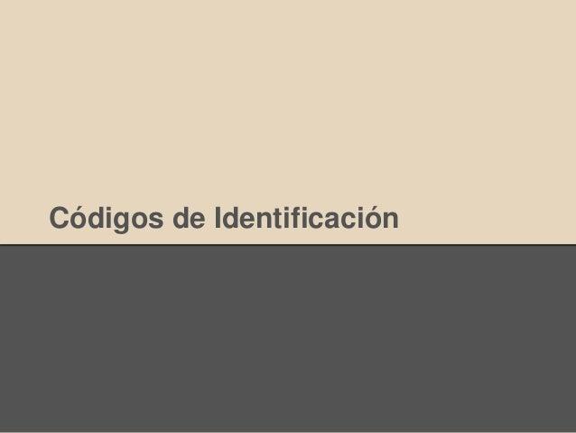 Códigos de Identificación