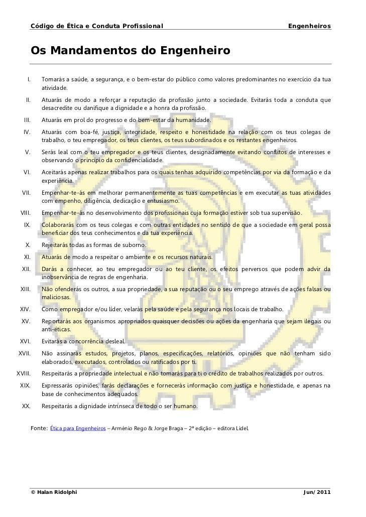 Código de Ética e Conduta Profissional                                                         Engenheiros          Os Man...