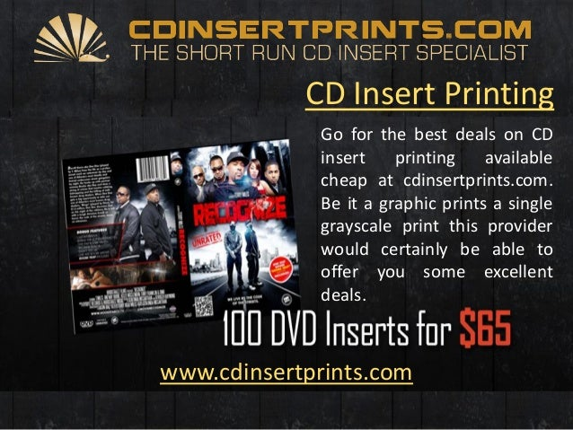 cd insert printing