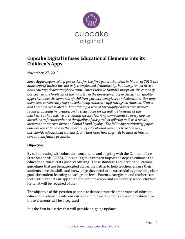 Cupcake	  Digital	  Infuses	  Educational	  Elements	  into	  its	  Childrens	  Apps	  	  	  November,	  27,	  2012...