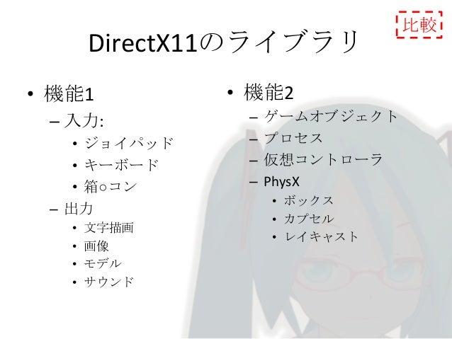 備考 •  • •  WindowsSDKを使用する場合、DirectXSDKをアンインストールしてからインストール しましょう。 その後DirectXSDKを再度インストールすれば問題ありません。 VisualStudio付属のWinSDKの...
