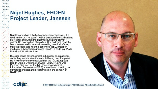 The IMI EHDEN project: large-scale analysis of observation data in Europe - CDISC EU April 2nd 2020 - Maxim Moinat and Nigel Hughes Slide 3