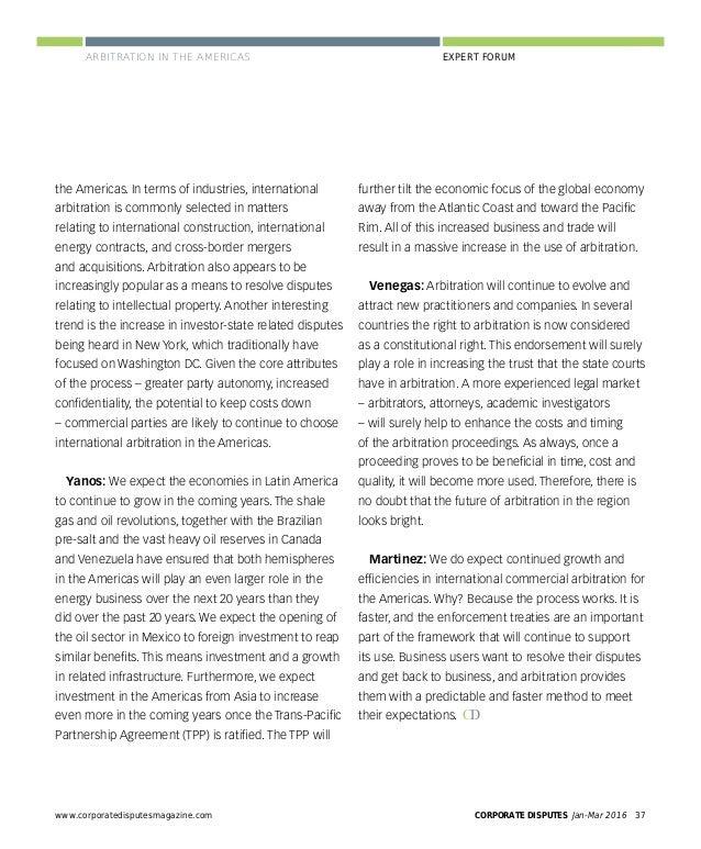 CORPORATE DISPUTES Jan-Mar 201640 www.corporatedisputesmagazine.com PERSPECTIVES state commercial arbitration legislation ...