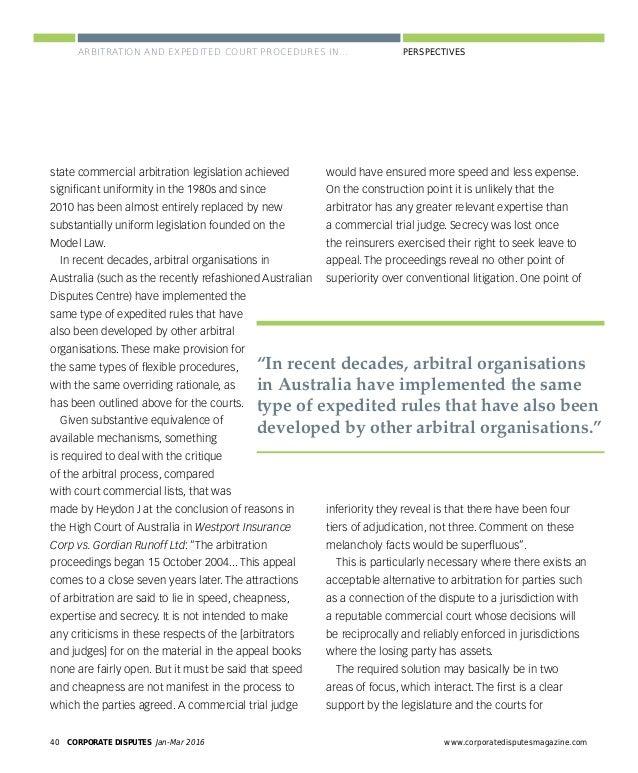 www.corporatedisputesmagazine.com CORPORATE DISPUTES Jan-Mar 2016 43 PERSPECTIVES PERSPECTIVES ENHANCING TRANSPARENCY: THE...