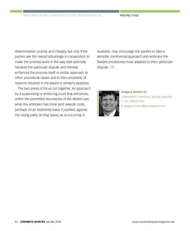 www.corporatedisputesmagazine.com CORPORATE DISPUTES Jan-Mar 2016 45 PERSPECTIVES One interesting feature of the Conventio...