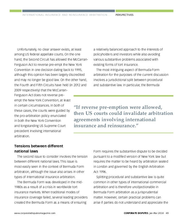 CORPORATE DISPUTES Jan-Mar 201652 www.corporatedisputesmagazine.com PERSPECTIVES arbitration clause in the bylaws would al...