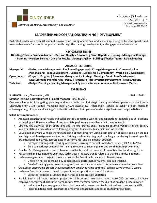 leadership development resume