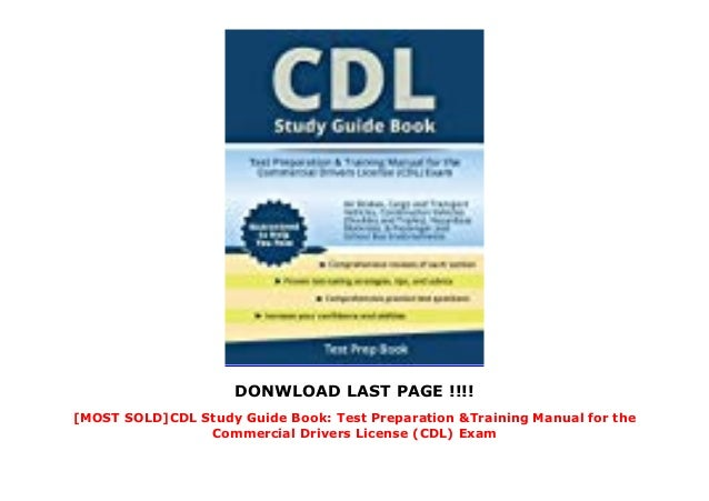 2018 Cdl Practice Test Manual Guide