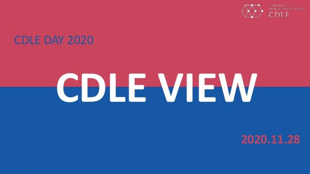 CDLE VIEW 2020.11.28 CDLE DAY 2020