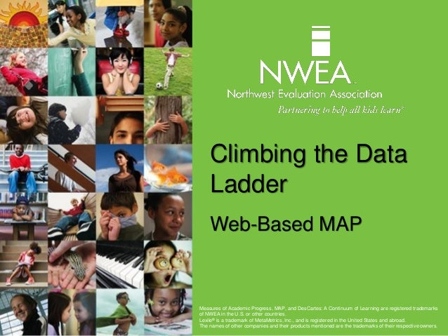 Climbing the Data Ladder Web-Based MAP Measures of Academic Progress, MAP, and DesCartes: A Continuum of Learning are regi...