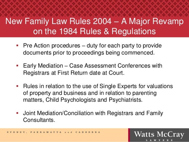 Recent mediation initiatives in the Family Court & Federal