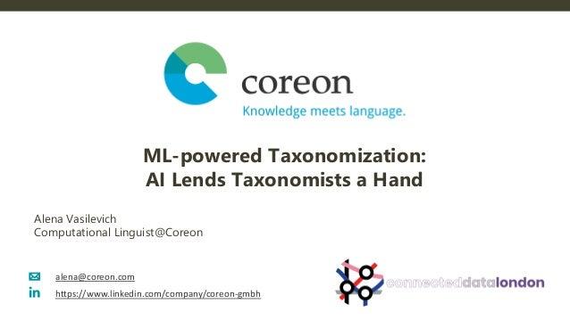 Machine Learning-powered Taxonomization: AI Lends Taxonomists a Hand