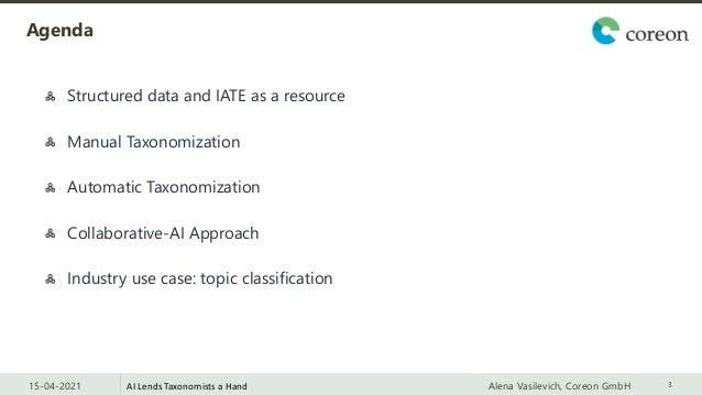 Machine Learning-powered Taxonomization: AI Lends Taxonomists a Hand Slide 3