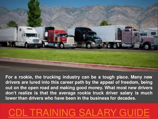 Truck Driver Salary >> Cdl Training Salary Guide