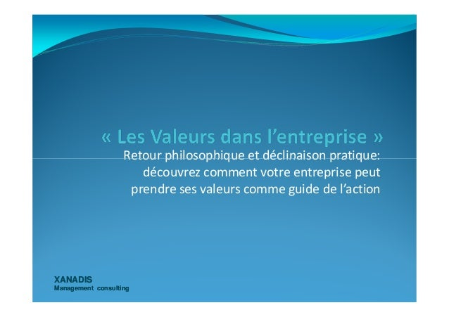 Retour philosophique et déclinaison pratique: XANADISXANADIS Management consultingManagement consulting Retour philosophiq...