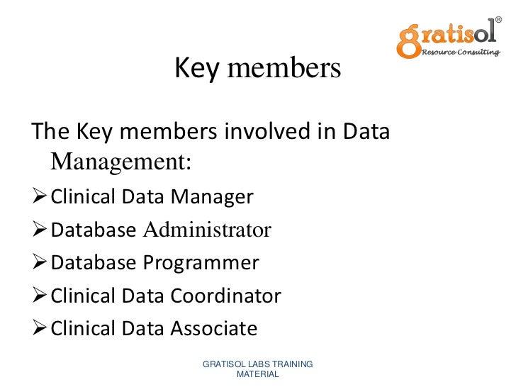 data management tasks gratisol labs training material 6 - Clinical Database Programmer