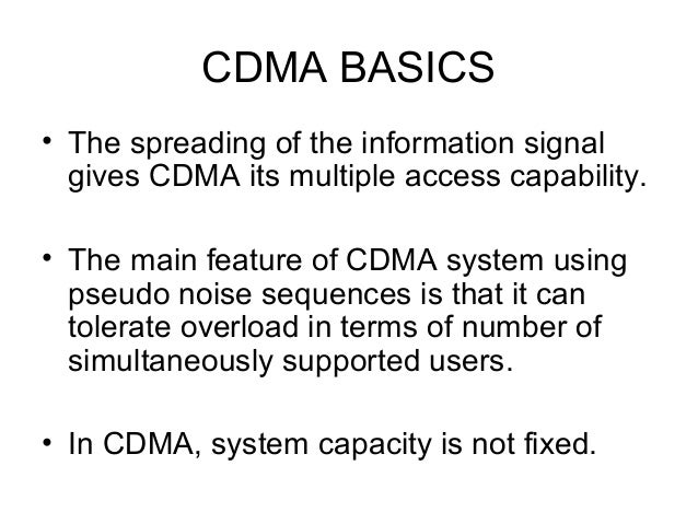 CDMA technology basics tutorial