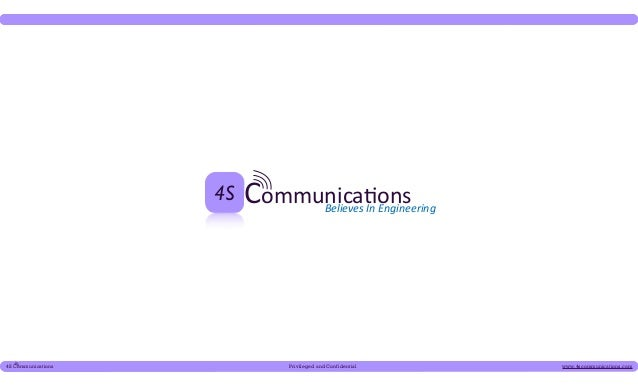 4S4S Communications        Privileged and Confidential   www.4scommunications.com
