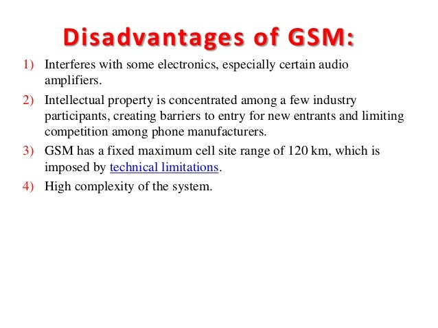 Differences between amps and gsm ppt download.