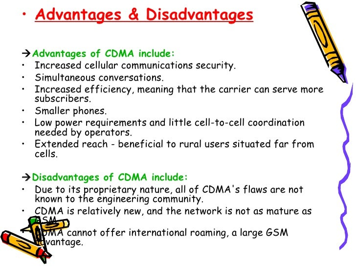 advantages and dissadvantages of using gsm The advantages & disadvantages of a utp cable the advantages & disadvantages of a utp cable march 31, 2015 by: advantages.