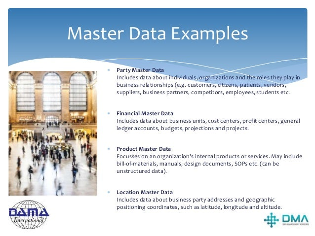 Master Data Match Rules  Rules around the matching, merging and linking of data from multiple systems about the same pers...