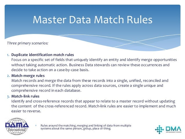 Guiding Principles  Shared reference and master data belong to the organisation, not to a particular application or depar...