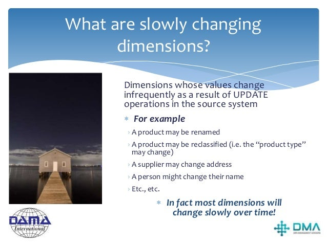 Why do slowly changing dimensions present problems?  The Data Warehouse will need to be updated to reflect the changes ma...