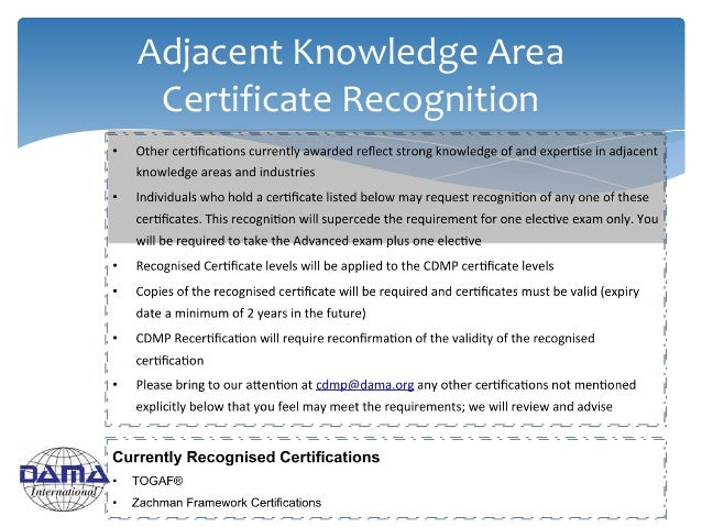 Adjacent Knowledge Area Certificate Recognition