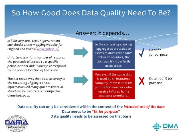 What can & can't be achieved with DQ? Can: • Make order from chaos • Drive business accountability for enterprise data • K...
