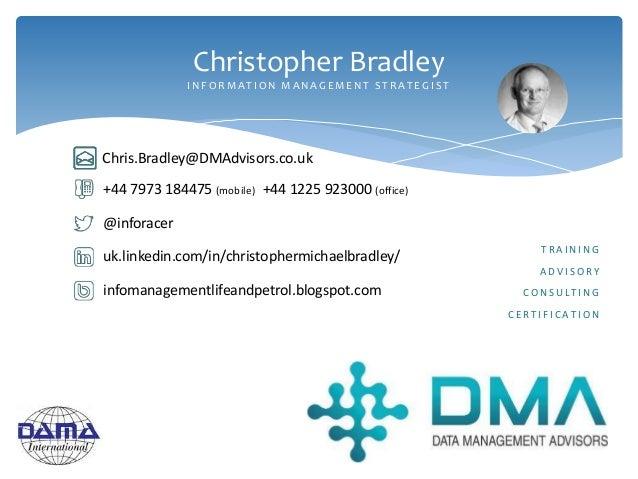 @inforacer uk.linkedin.com/in/christophermichaelbradley/ +44 7973 184475 (mobile) +44 1225 923000 (office) infomanagementl...