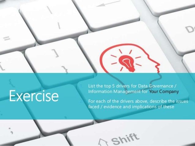 Data Governance Activities