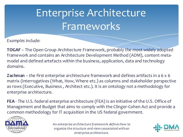 Enterprise Architecture Types and Structures Business Architecture The Business Architecture defines the business strategy...