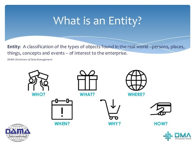 Identifying Entities A Rule Of Thumb Is it an Entity? Does this imply an instance of a SINGLEthing, not a group or collect...