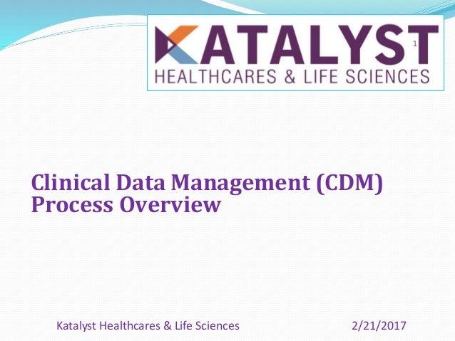 Clinical Data Management (CDM) Process Overview 2/21/2017Katalyst Healthcares & Life Sciences 1