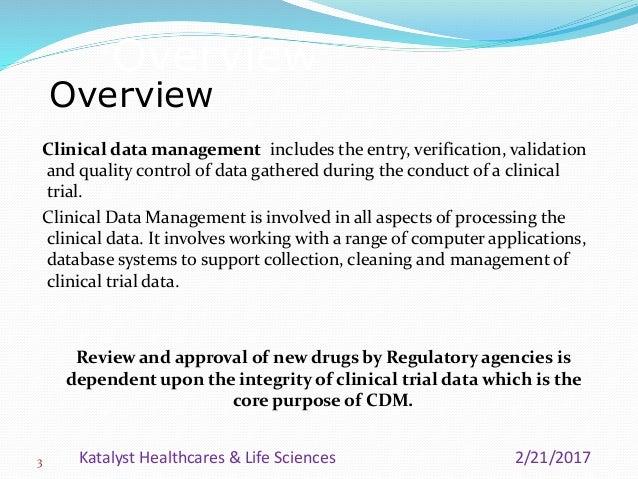 Clinical Data Management Process Overview Katalyst Hls