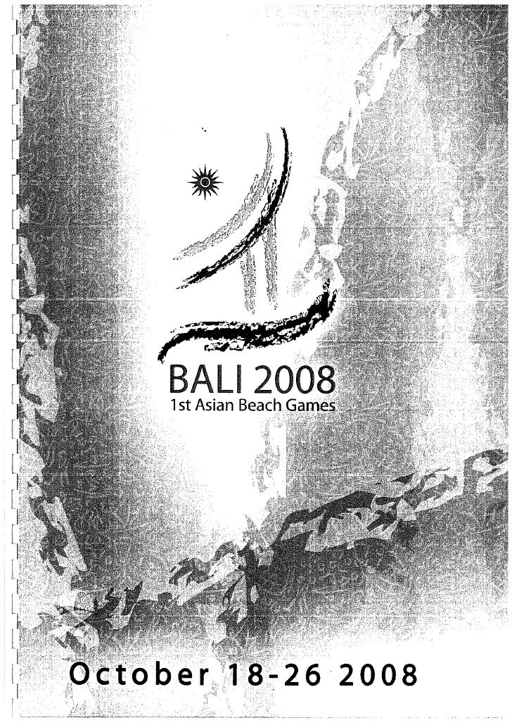 Cdm Report Bali 2008 1st Asian Games
