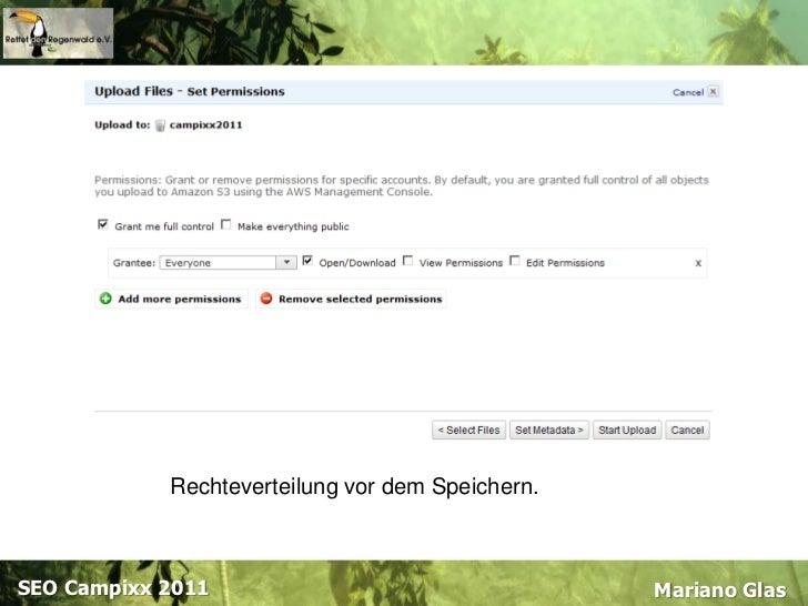 Content deliverynetwork<br />Praxisbeispiel<br />Amazon Web Services<br />Mariano Glas<br />SEOCampixx 2011<br />