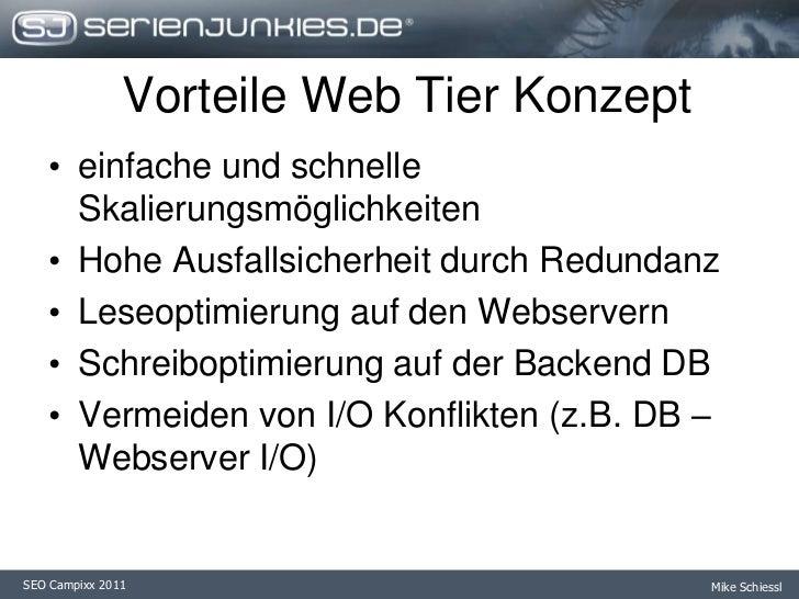 Trennung von Datenbank und Webserver I/O