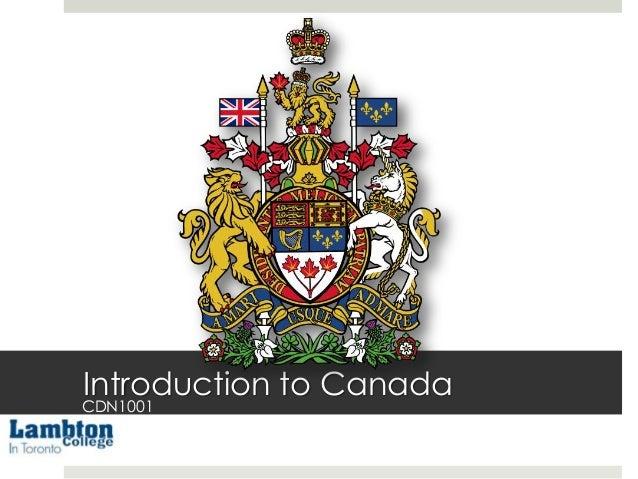 Introduction to Canada  CDN1001