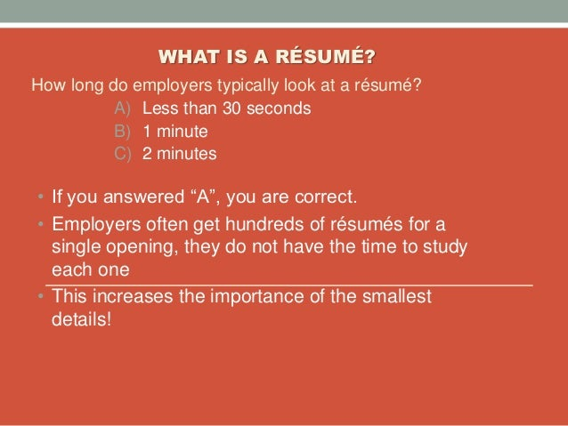 amazing how long do employers look at resumes images simple