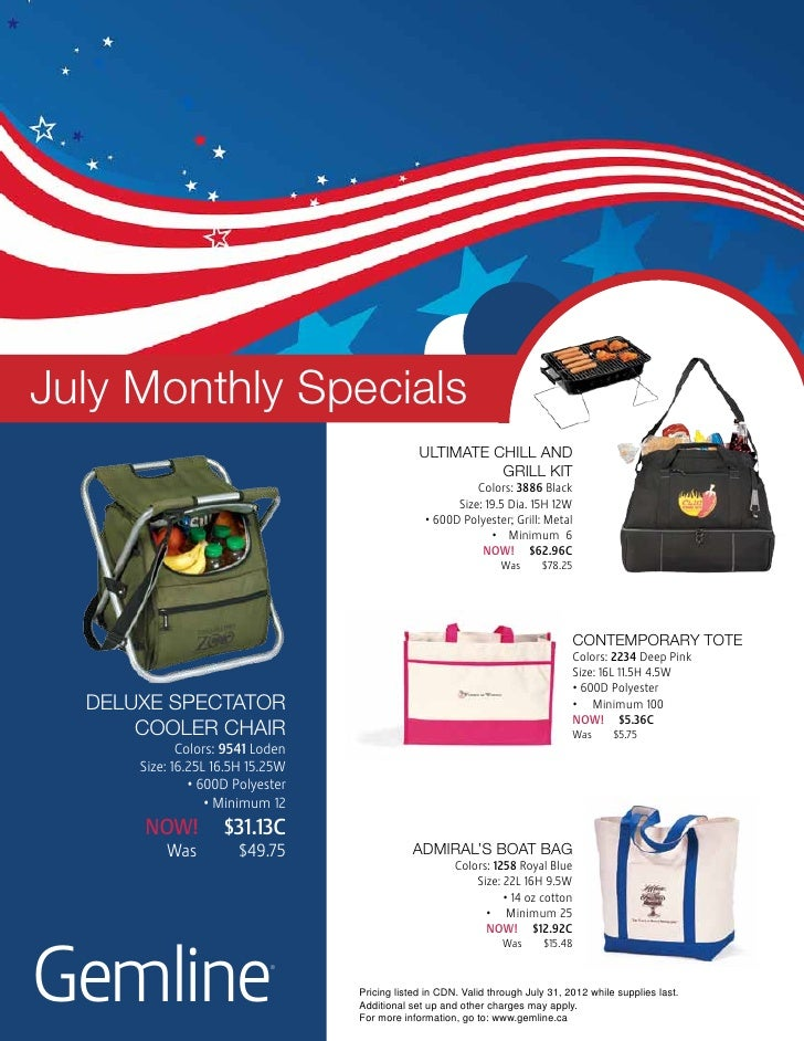 July Monthly Specials                                               Ultimate chill and                                    ...