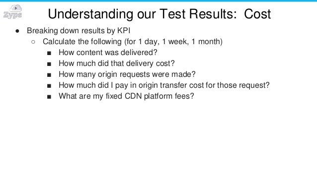 Understanding our Test Results: Cost ● Breaking down results by KPI ○ Calculate the following (for 1 day, 1 week, 1 month)...